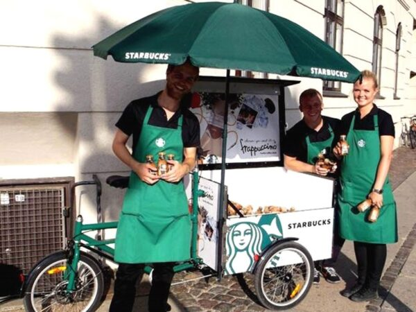 Bellabike Cargo Box -Starbucks- en action
