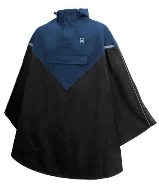 Poncho bleu marine / noir