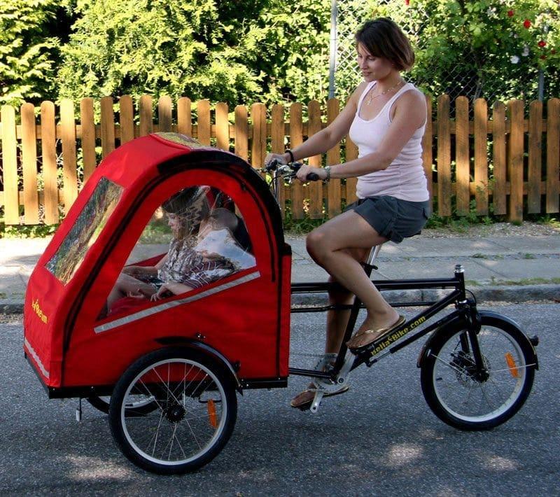 Triporteur électrique Bellabike 2 rouge
