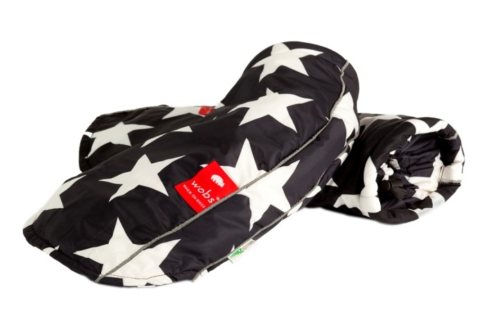 Moufles de guidon - Etoiles noir et blanc