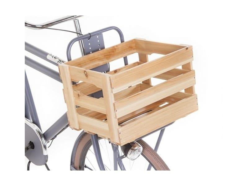 Caisse en bois pour porte-bagage de vélo