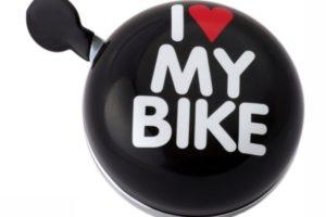 "Sonnette Ding-Dong noire ""I Love My Bike"""