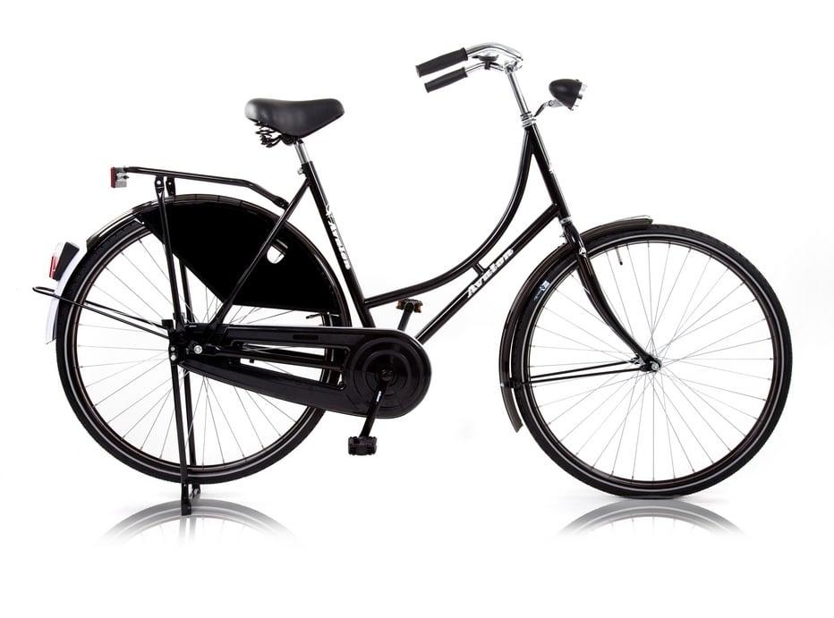 Vélo hollandais dame mono-vitesse torpédo noir