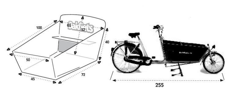 Dimensions Bakfiets Cargobike long