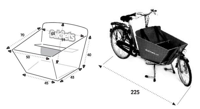 Dimensions du Cargobike court