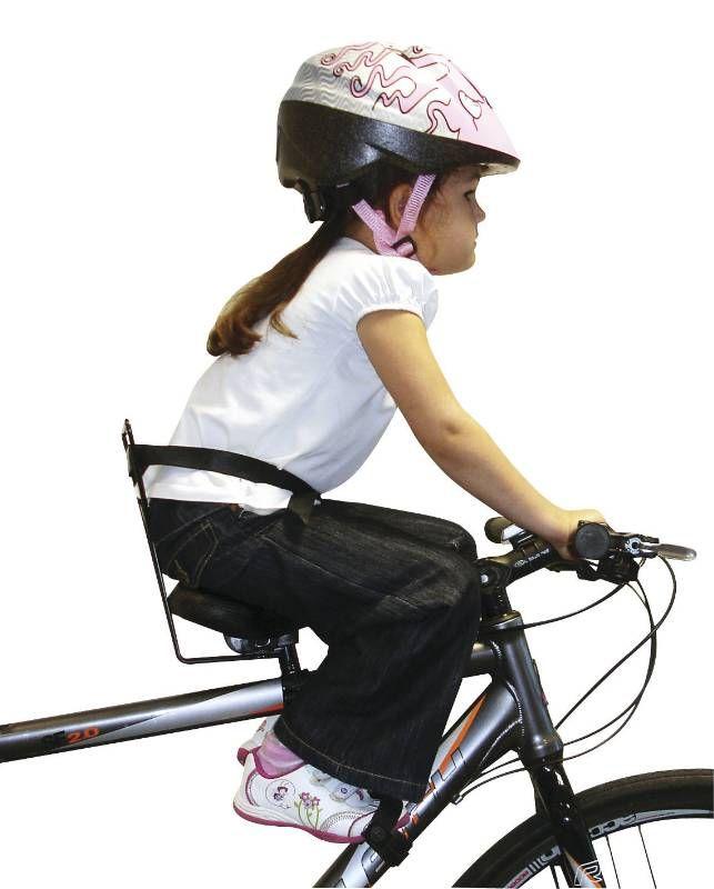 Siège enfant sur cadre de vélo adulte