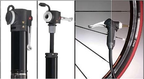 Mini pompe à pied Airace Speed F2 à fixer sur le vélo