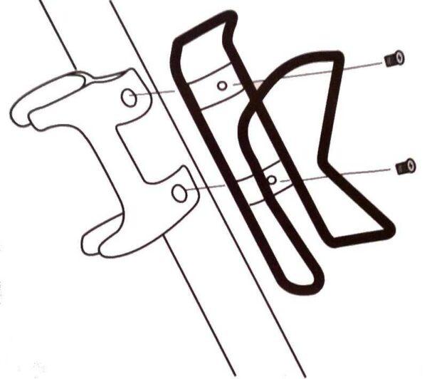 Montage sur les fixations du porte-bidon