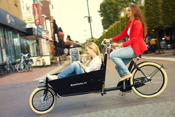 Biporteur Bakfiets Cruiser long + option bac noir