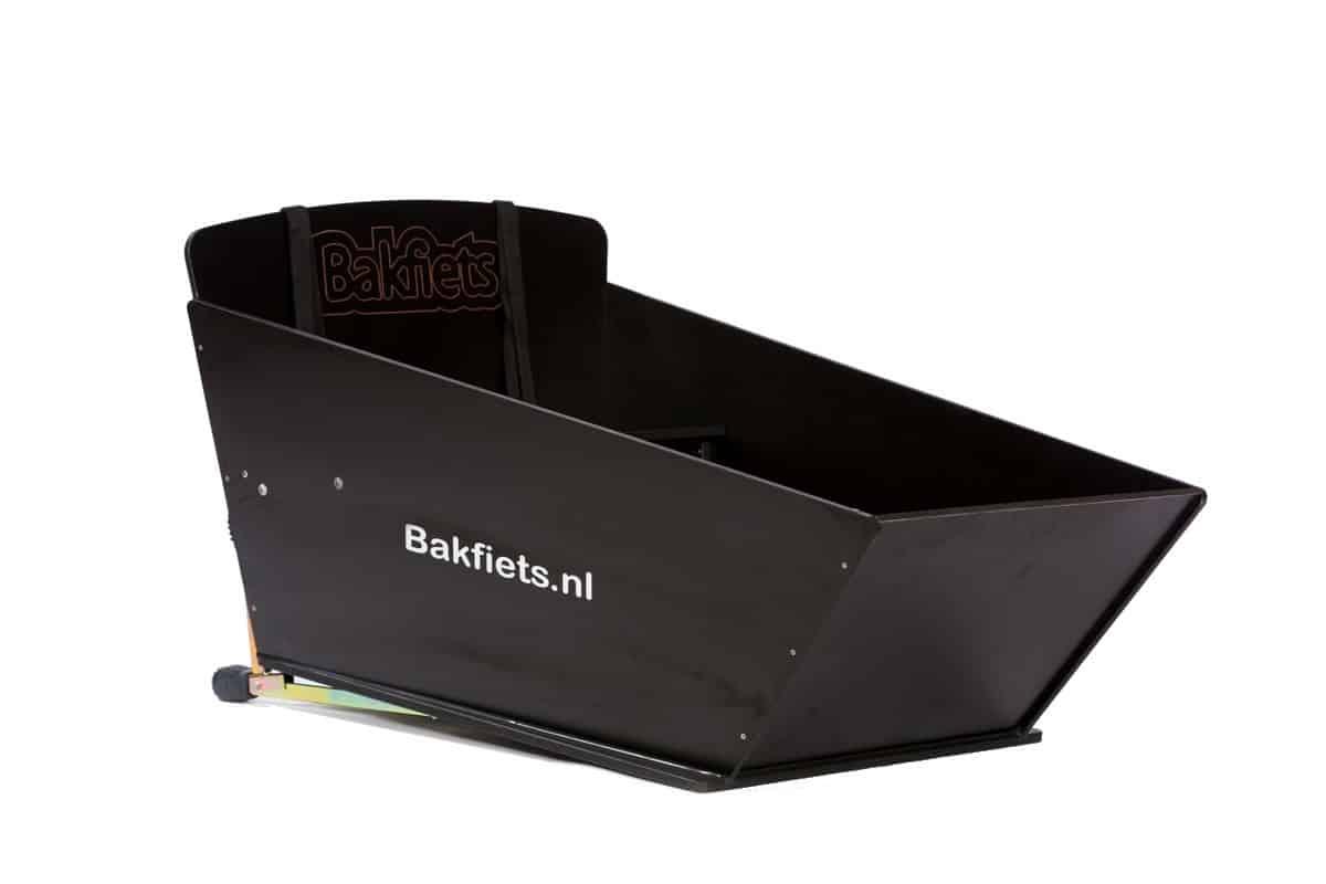 Option bac en bois noir pour biporteur Bakfiets long