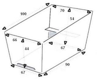 Dimensions Bakfiets cargotrike