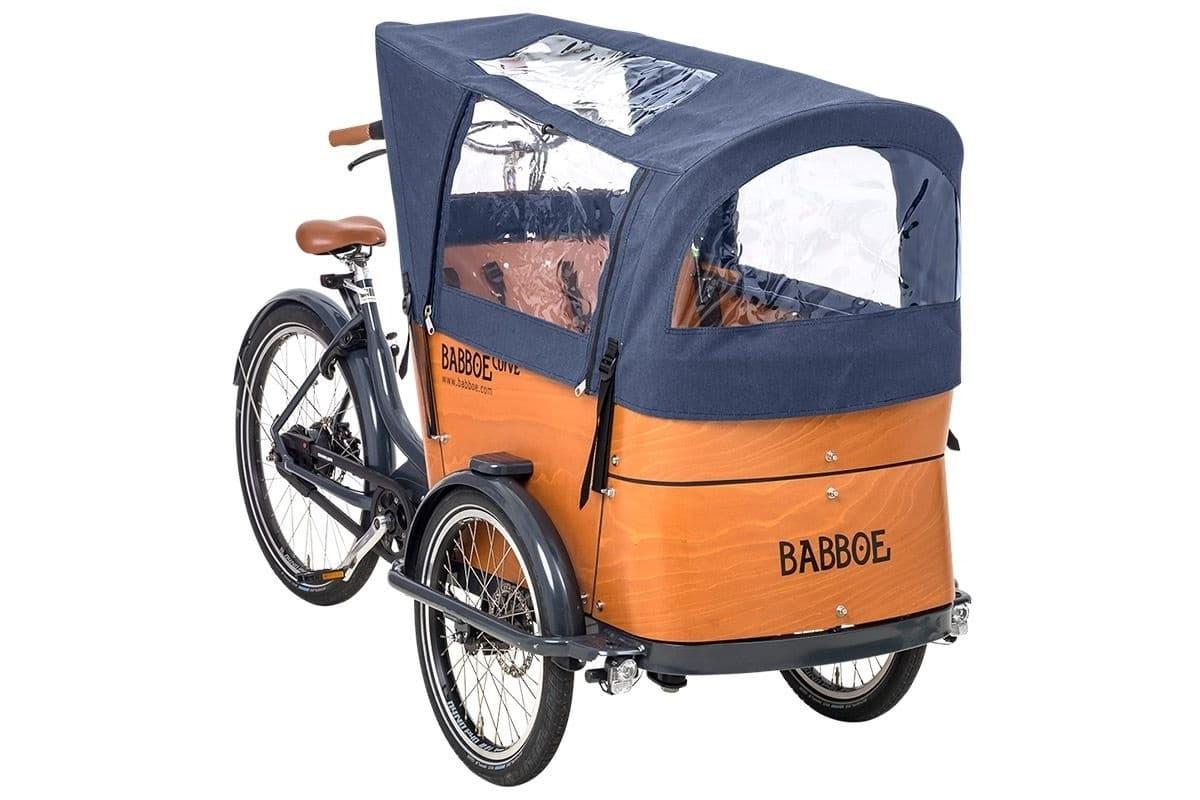 Tente de pluie bleue pour Babboe Curve