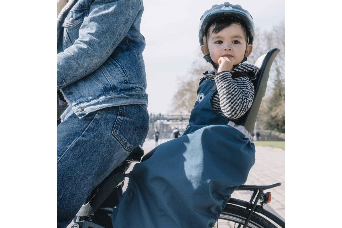 Tablier de protection pour siège vélo