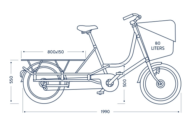 Dimensions Bicicapace Justlong