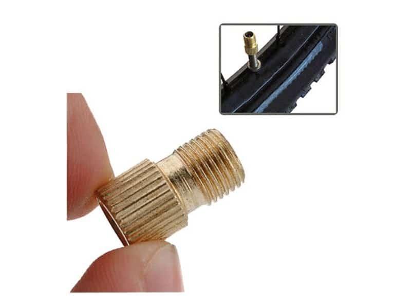 Adaptateur sans joint pour valve Dunlop / Hollandaise / Presta vers Schrader