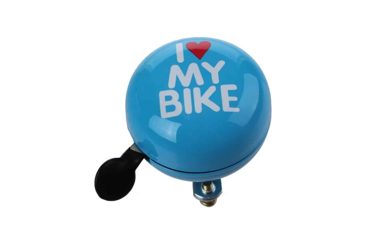 "Sonnette Ding-Dong bleu ""I Love My Bike"""