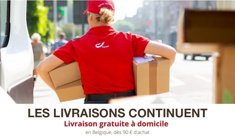 Les livraisons continuent, frais de ports offerts à partir de 90€ d'achats